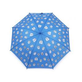 Detský dáždnik čarovný cupcakes,príšerky,autá modrá 1ks Stoklasa