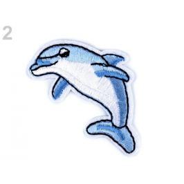 Nažehlovačka jednorožec, delfín, tiger, mačka, lev, zajac modrá 1ks Stoklasa