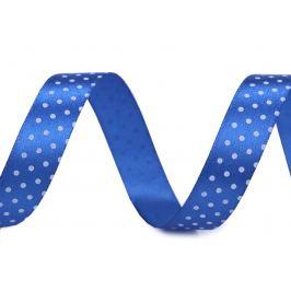 Saténová stuha s bodkami šírka 15 mm modrá 22.5m Stoklasa