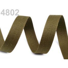 Keprovka - tkaloun šírka 16 mm zelená olivová 50m