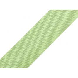 Saténový šikmý prúžok šírka 15mm,zažehlený zelená sv. 20m Stoklasa