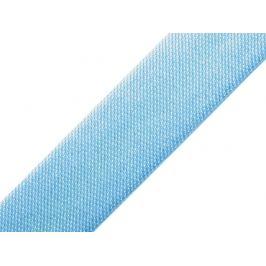 Saténový šikmý prúžok šírka 15mm,zažehlený modrá sv. 20m Stoklasa