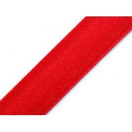 Saténový šikmý prúžok šírka 15mm,zažehlený červená 20m Stoklasa