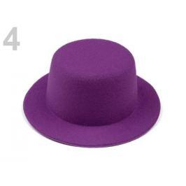 Mini klobúčik / fascinátor na dozdobenie Ø13,5 cm fialová purpura 1ks Stoklasa
