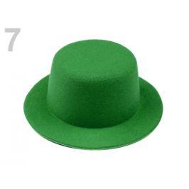 Mini klobúčik / fascinátor na dozdobenie Ø13,5 cm zelená pastelová 1ks Stoklasa