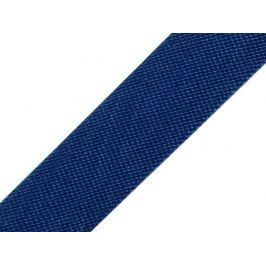 Šikmý prúžok saténový šírka 15 mm zažehlený modrá tmavá 129.6m Stoklasa