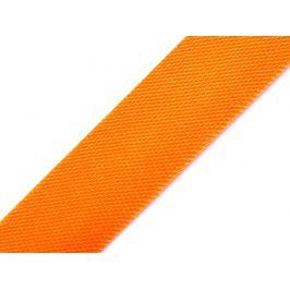 Šikmý prúžok saténový šírka 15 mm zažehlený oranžová   129.6m Stoklasa