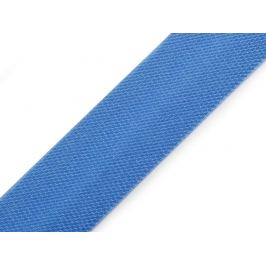 Šikmý prúžok saténový šírka 15 mm zažehlený modrá 129.6m Stoklasa