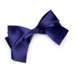 Spona do vlasov veľká saténová mašľa modrá tmavá 1ks Stoklasa
