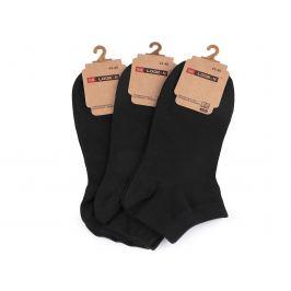 Pánske bavlnené ponožky členkové čierna 1pár