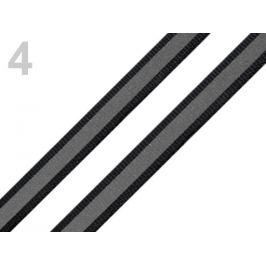 Páska reflexná šírka 10mm na tkanine čierna 5m Stoklasa