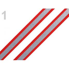 Páska reflexná šírka 10mm na tkanine červená 5m Stoklasa