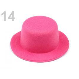 Mini klobúčik / fascinátor na dozdobenie Ø13,5 cm ružová 1ks Stoklasa