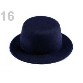 Mini klobúčik / fascinátor na dozdobenie Ø13,5 cm modrá temná 1ks Stoklasa