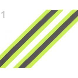 Reflexná páska šírka 25 mm na tkanine žltozelená ref. 5m Stoklasa