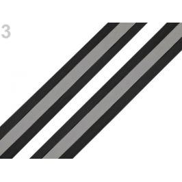 Reflexná páska šírka 25 mm na tkanine čierna 5m Stoklasa