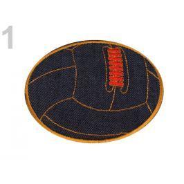 Riflová nažehlovačka lopta hnedá sv. 100ks Stoklasa