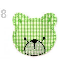 Nažehlovačka medveď limetková 50ks Stoklasa