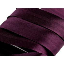 Šikmý prúžok saténový 20mm zažehlený rozmeraný Beaujolais 20m