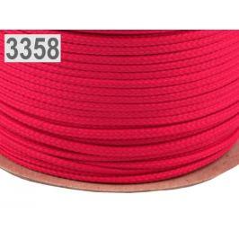 Odevná šnúra PES Ø4 mm pink 100m