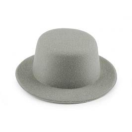 Mini klobúčik / fascinátor na dozdobenie Ø13,5 cm šedá sv 1ks Stoklasa