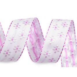 Stuha s vlascom kvety šírka 25 mm najsvetlejšia fialová 10m