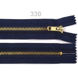 Kovový  /  mosadzný zips šírka 4 mm  dĺžka 10 cm nohavicový Eclipse 1ks Stoklasa