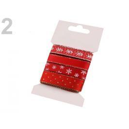 Dekoračná stuha mix 4x1 m vianočná High Risk Red 4kar.