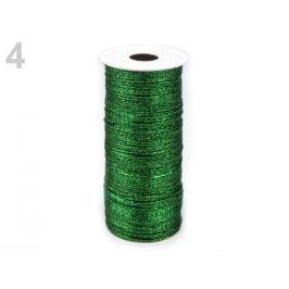 Dekoračný drôt Ø1 mm s lurexom / gympa zelená jedla 150m