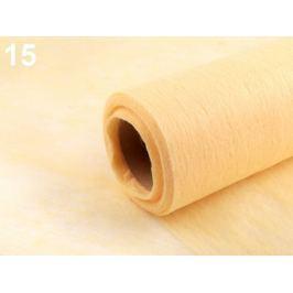 Dekoračná netkaná textília šírka 50 cm žĺtková 10m