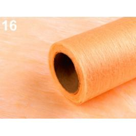 Dekoračná netkaná textília šírka 50 cm marhulová 10m