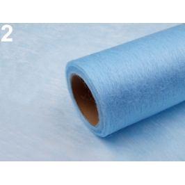 Dekoračná netkaná textília šírka 50 cm modrá nebeská 140m