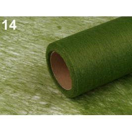 Dekoračná netkaná textília šírka 50 cm zelená 140m