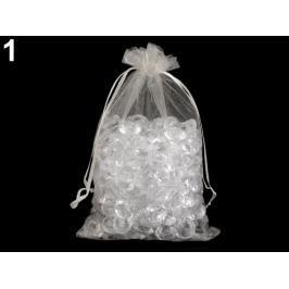 Darčekové vrecúško 14x21 cm organza biela 10ks Stoklasa
