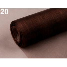Organza šírka 15 cm hnedá kávová 198m