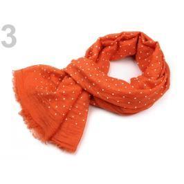 Šatka bodkovaná 70x180 cm oranžová dyňová 1ks Stoklasa