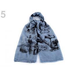 Šatka  Paríž 100x180 cm modrofialová 1ks Stoklasa