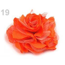 Brošňa / ozdoba ruža Ø9 cm mrkvová 1ks Stoklasa