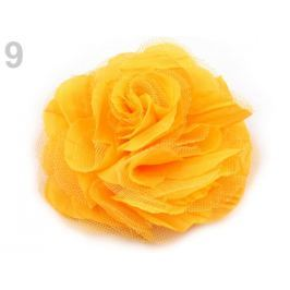 Brošňa / ozdoba ruža Ø9 cm žltá 1ks Stoklasa