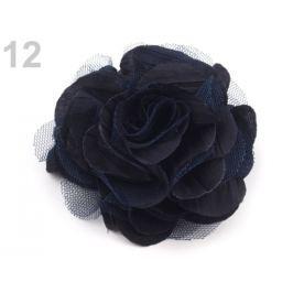 Brošňa / ozdoba ruža Ø9 cm modrá parížska 1ks Stoklasa