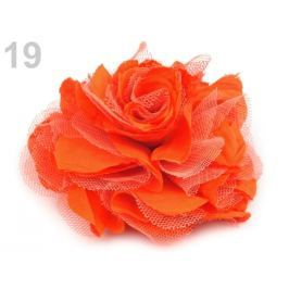 Brošňa / ozdoba ruža Ø9 cm mrkvová 10ks Stoklasa
