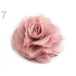 Brošňa / ozdoba ruža Ø9 cm ružová str. 10ks Stoklasa