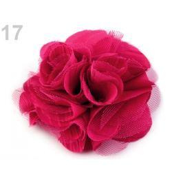Brošňa / ozdoba ruža Ø9 cm malinová 30ks Stoklasa