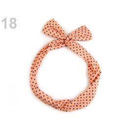 Látková čelenka do vlasov s drôtom ružová sýta 36ks Stoklasa