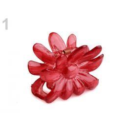 Štipec do vlasov 5x6,5 cm kvet červená tm 1ks Stoklasa