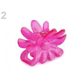 Štipec do vlasov 5x6,5 cm kvet ružová kriklavá 1ks Stoklasa
