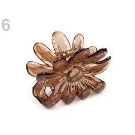 Štipec do vlasov 5x6,5 cm kvet hnedá sv. 1ks Stoklasa