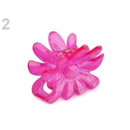 Štipec do vlasov 5x6,5 cm kvet ružová kriklavá 36ks Stoklasa