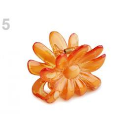 Štipec do vlasov 5x6,5 cm kvet oranžová   36ks Stoklasa