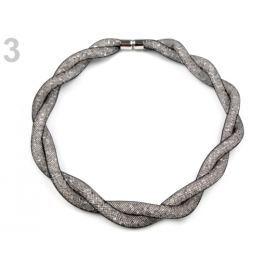 Dutinkový náhrdelník skrúcaný čierna 1ks Stoklasa
